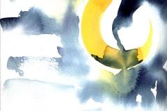 Mond. Gedichtillustration    Aquarell      1995