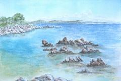 Kroatien Insel Losinj.   Aquarell           09/2008