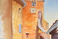 Roussillon, Stadttor.          Aquarell         09/2006