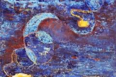 Das blaue Bild.         5/2007.           Öl auf Holz, 54 x 54 cm